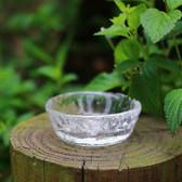 Japanese Handmade Heat Resistant Crystal Glass Mini Flat Teacup Tea Cup 35ml
