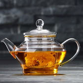 Mini Clear Lead Free Borosilicate Heat Resistant Glass Teapot with Infuser 300ml