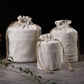 Pu-erh Tea Cake Loose Tea Plain Linen Storage Bag Home Kitchen Organization Small