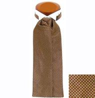 Formal 100% Woven Silk Ascot - Rust Tone