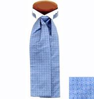 Formal 100% Woven Silk Ascot - Light Blue Tones