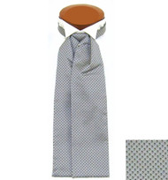 Formal 100% Woven Silk Ascot - Grey