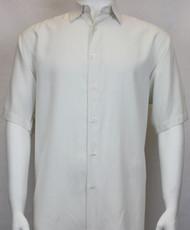 Sangi Modal Blend Short Sleeve Camp Shirt - Off-White