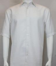 Sangi Modal Blend Short Sleeve Camp Shirt - White