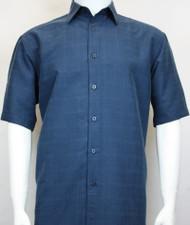 Sangi Modal Blend Short Sleeve Camp Shirt - Blue