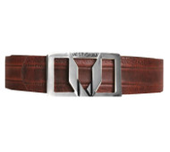 Vestigium Genuine Leather Dress Belt - Walnut