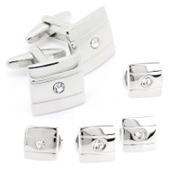 Formal Crystal Design Cufflinks & Formal Studs