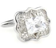 Center Diamond Crystal Cufflinks (V-CF-C40350C-S)