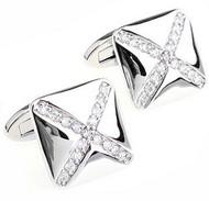 Cross Diamond Swarovski® Crystal Design Cufflinks (V-CF-C811C-S)