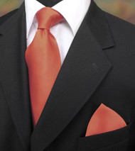 Antonio Ricci 100% Satin Silk Tie - Coral