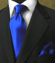 Antonio Ricci 100% Satin Silk Tie - Royal Blue