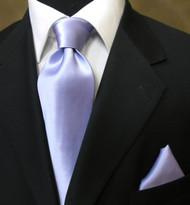 Antonio Ricci 100% Satin Silk Tie - Lavender