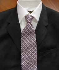 Emilio Romano 100% Silk Italian-made Necktie - Pink Design