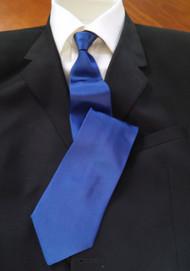 Fratelli Moda 100% Woven Rich Blue Silk Italian Tie