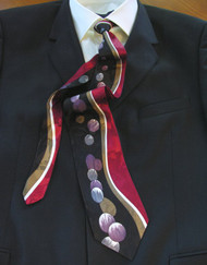 Gianni Vasari 100% Printed Silk Tie - Black & Burgundy