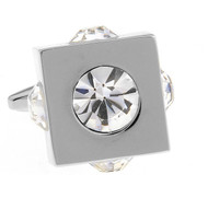 Diamond Cubed Crystal Cufflinks (V-CF-C61030C-S)