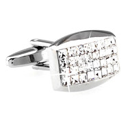 Diamond Princess Baguettes Swarovski® Crystal Cufflinks (V-CF-C60091C)