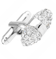Diamond Swarovski® Crystal Prolate Spheroid Cufflinks (V-CF-C608C-S)