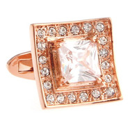 Diamond Swarovski® Crystal Rose Gold Cufflinks (V-CF-C40394C-RG)