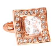 Diamond Swarovski® Crystal Rose Gold Cufflinks (V-CF-C40394C-RG)