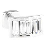 Diamond-Colored Swarovski® Crystal Arch Cufflinks (V-CF-C900C)