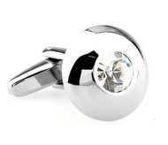 Small Round Diamond Crystal Cufflinks (V-CF-61308C-S)