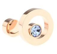 Blue Swarovski® Crystal Circle Rose Gold Cufflinks (V-CF-C68361BL-RG)