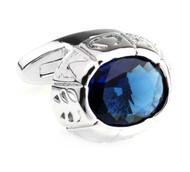 Large Blue Center Swarovski® Crystal Cufflinks (V-CF-C8365BL)