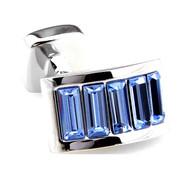 Light Blue Swarovski® Crystal Arch Cufflinks (V-CF-C900LBL)