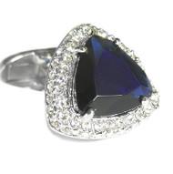 Tanzanite-Color Trillion Swarovski® Crystal Cufflinks (V-CF-C51786)