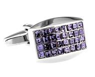 Purple Princess Baguettes Swarovski® Crystal Cufflinks (V-CF-C60091PR)