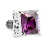 Purple Swarovski® Crystal Cufflinks (V-CF-C50420PR-S)