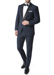 Paul Betenly Shawl Collar with Flat Front Slacks Tuxedo - Slim Fit