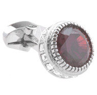Red Crystal and Diamond Cufflinks (V-CF-C53838R)