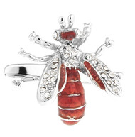 Red Hornet with Swarovski® Crystals Cufflinks (V-CF-C5759)