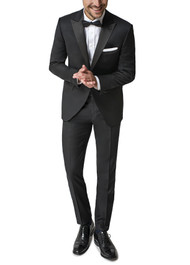 Paul Betenly Peak Lapel with Flat Front Slacks Tuxedo - Slim Fit