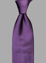 Antonio Ricci Solid Color Tonal Rib Weave Tie - Deep Purple