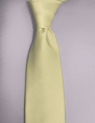 Antonio Ricci Solid Color Tonal Rib Weave Tie - Ivory