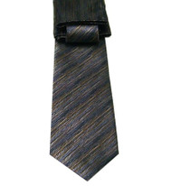 Antonio Ricci Necktie w/ Matching Pocket Square - Line Design