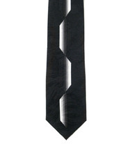Antonio Ricci 100% Printed Silk Tie - Long Black Jag Design