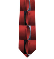 Antonio Ricci 100% Printed Silk Tie - Red Illusion Design