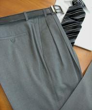 Gianni Manzoni Comfort Gab Wool Italian Pleated & Flat Front Dress Slacks