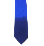 Antonio Ricci 100% Printed Silk Tie - Tonal Royal Blue