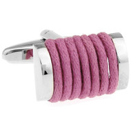 Pink Silk Rope Cufflinks (V-CF-S6495F)