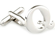 Large Personalized Initial Cufflinks - Letter Q - Plus Your Choice (V-CF-M17046S-LT-Q)