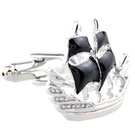 Pirate Ship Cufflinks (V-CF-E59068)