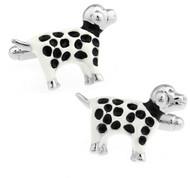 Dalmation Spotted Dog Cufflinks (V-CF-E447-S)
