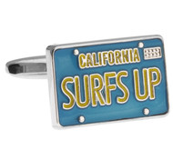 California Surf's Up License Plate Cufflinks (V-CFM210091)