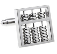 Large Silver Abacus Cufflinks (V-CF-71095)