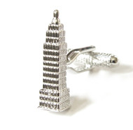 Large Silver Empire State Building Cufflinks (V-CF-M52148-S)